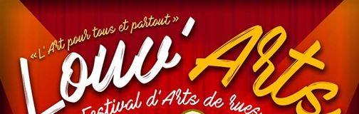 Louv'Arts, l'affiche du festival qui aura lieu le 25, 26, 27 août à Louvignies-Quesnoy!
