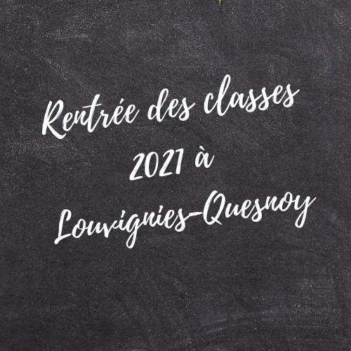 rentrée des classes Louvignies- Gwen Communication